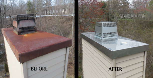 chimney chase cover st louis chimney rh stlchimney com chimney chase cover sheet metal fireplace chase cover replacements